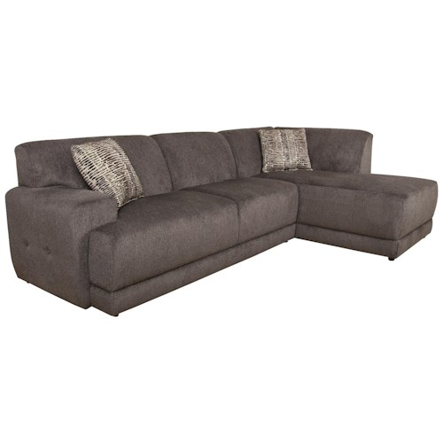 England Cole  Contemporary Sectional Sofa with Right Facing Chaise