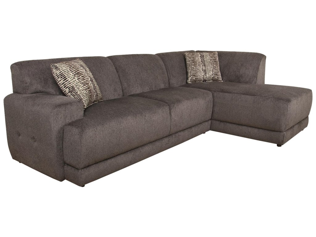 Cole Contemporary Sectional Sofa with Right Facing Chaise by England at  Dunk & Bright Furniture