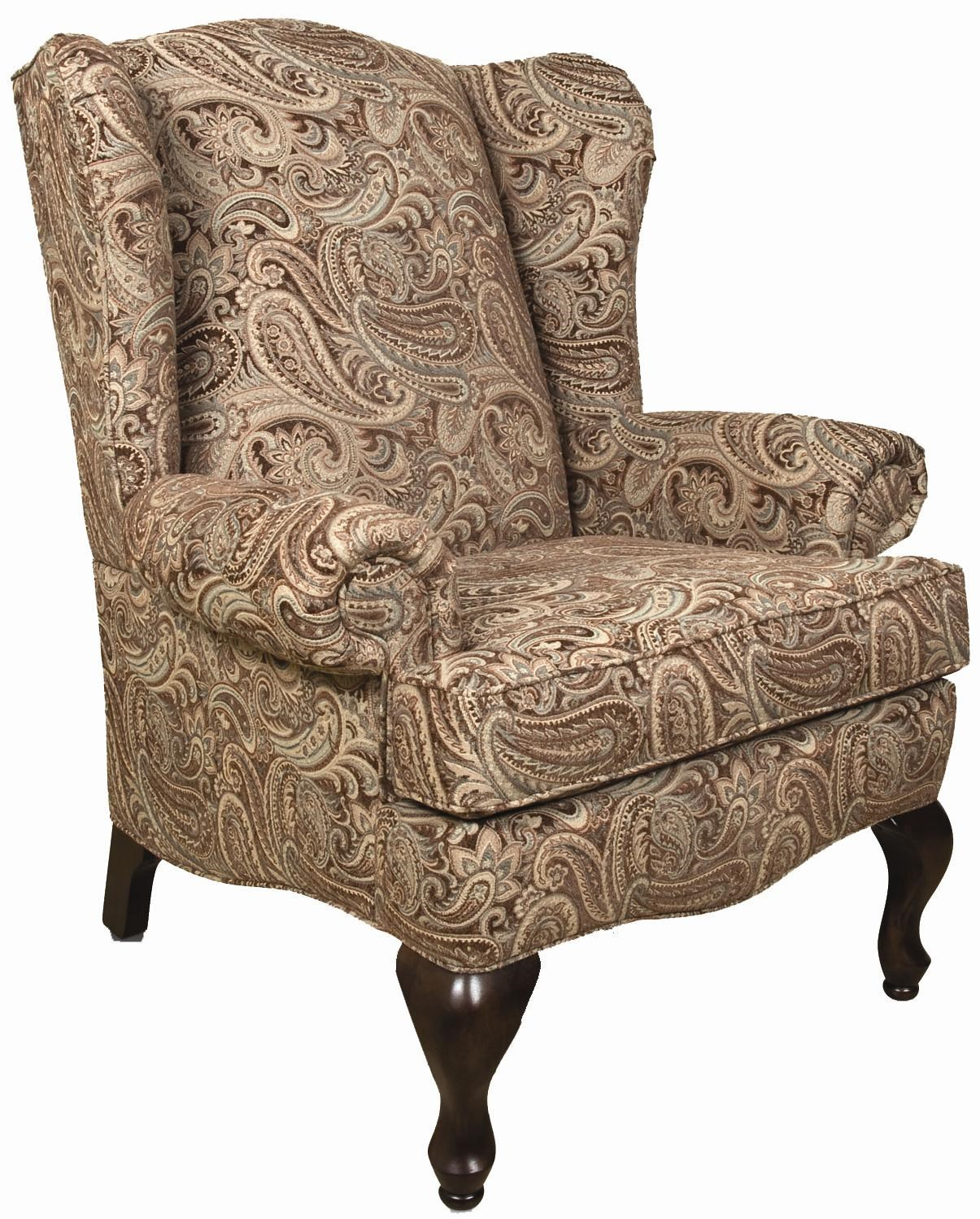 England ColleenChair; England ColleenChair  sc 1 st  Colderu0027s & England Colleen Upholstered Wing Chair with Cabriole Legs | Colderu0027s ...