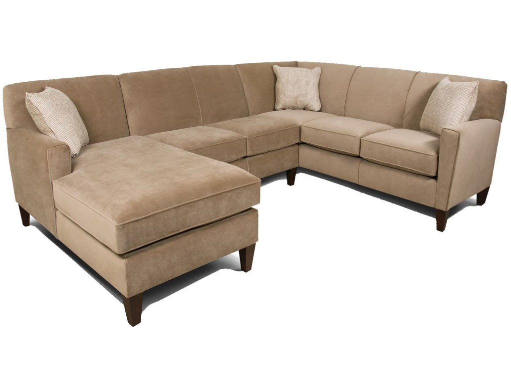Collegedale Contemporary 3-Piece Sectional Sofa with LAF Chaise by England  at Pilgrim Furniture City