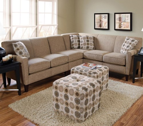 England Collegedale Contemporary 3-Piece Sectional