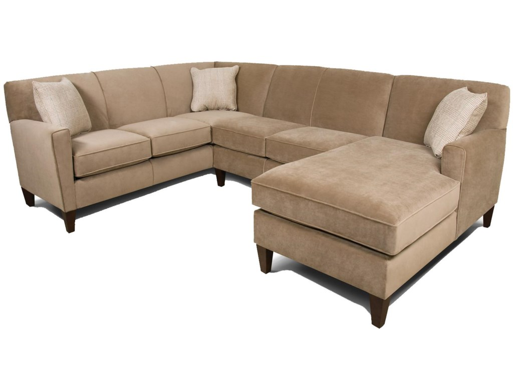 Collegedale Contemporary 3-Piece Sectional Sofa with RAF Chaise by England  at Furniture and ApplianceMart