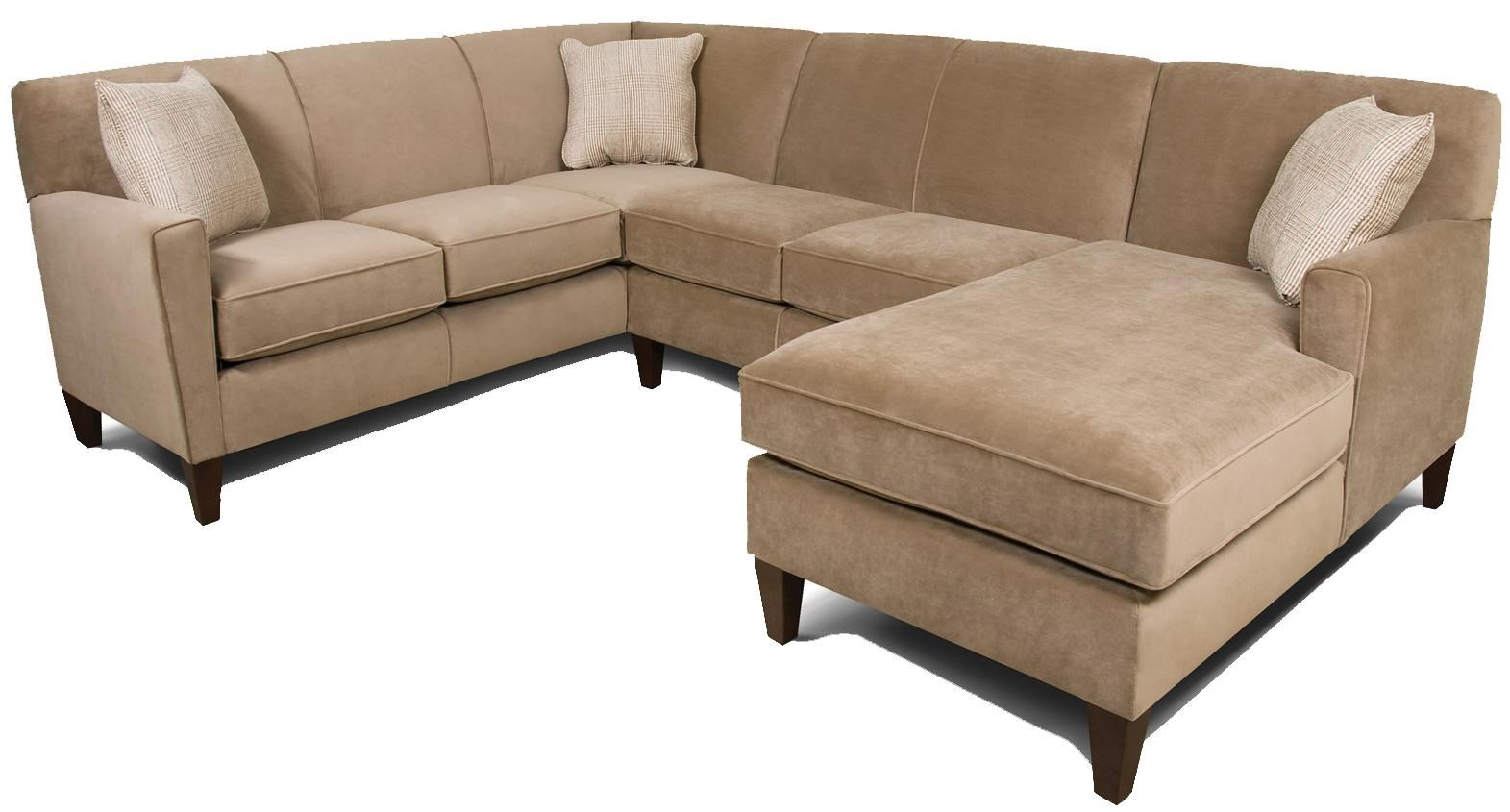 England Collegedale Contemporary 3 Piece Sectional Sofa With RAF Chaise