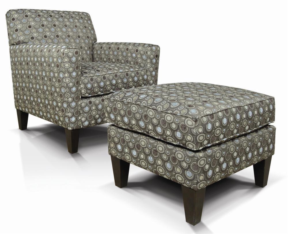 Upholstered Chair And Ottoman england collegedale upholstered chair & ottoman - furniture and