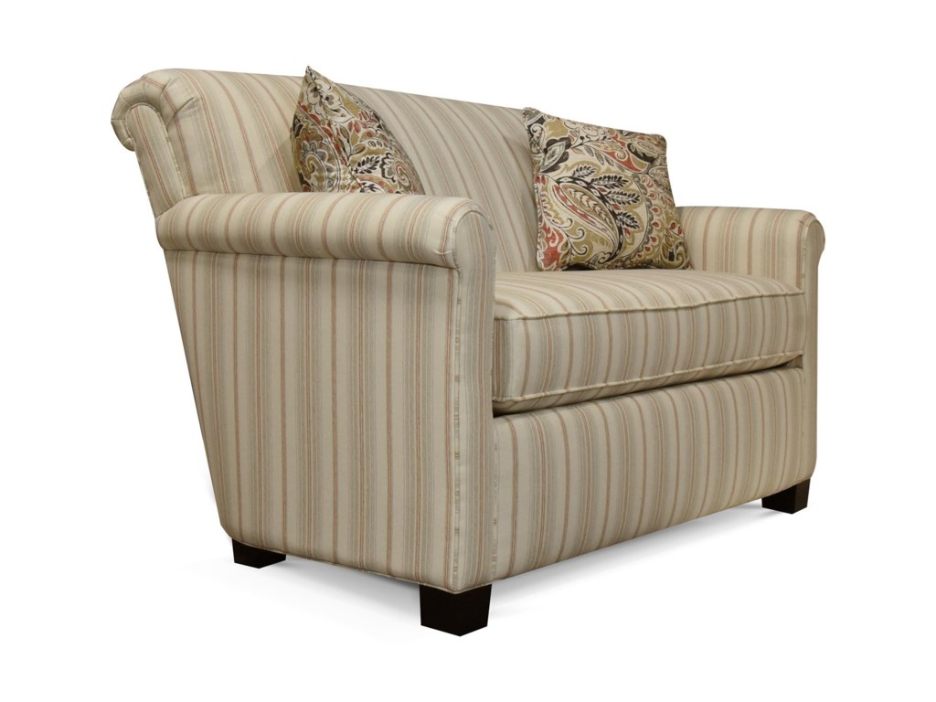 England CunninghamRolled Back Loveseat