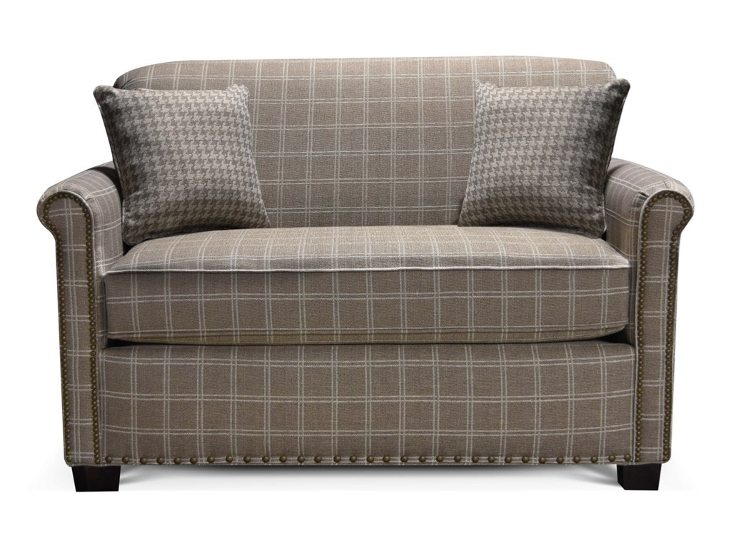 England CunninghamRolled Back Loveseat with Nailheads