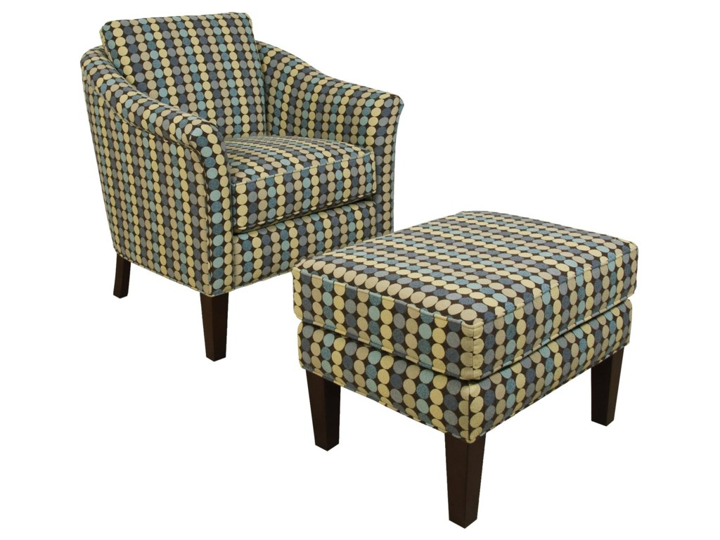 England Denise Chair and Ottoman Set