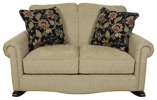 England Eliza Traditional Upholstered Rocking Loveseat