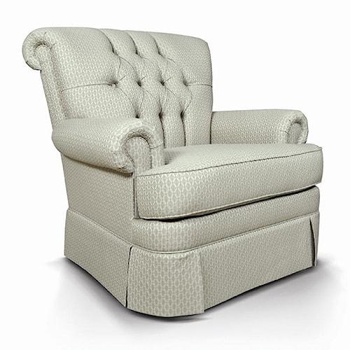 England Fernwood Rollback Upholstered Chair w/ Tufting