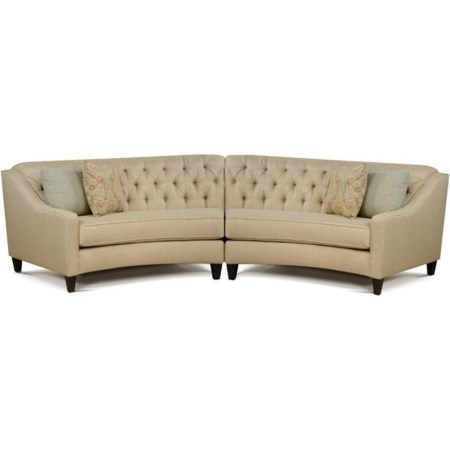 2 Piece Curved Sectional Sofa