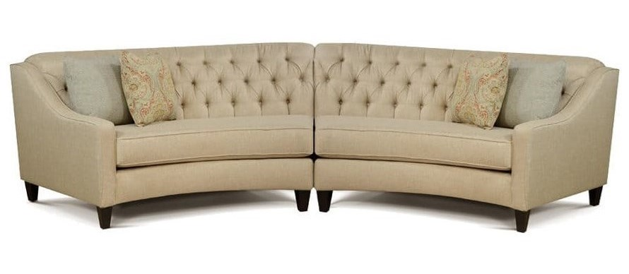 England Finneran2 Piece Curved Sectional Sofa