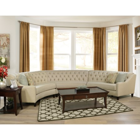 3 Piece Curved Sectional Sofa