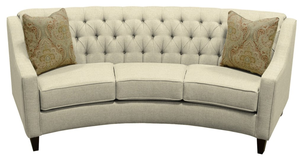 England Finneran Round Sofa with Tufted Back Dunk & Bright