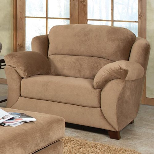 England Geoff  Extra Large Cozy Chair & 1/2 with Casual Furniture Style
