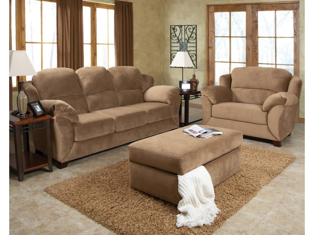 Shown with Coordinating Collection Sofa and Storage Ottoman