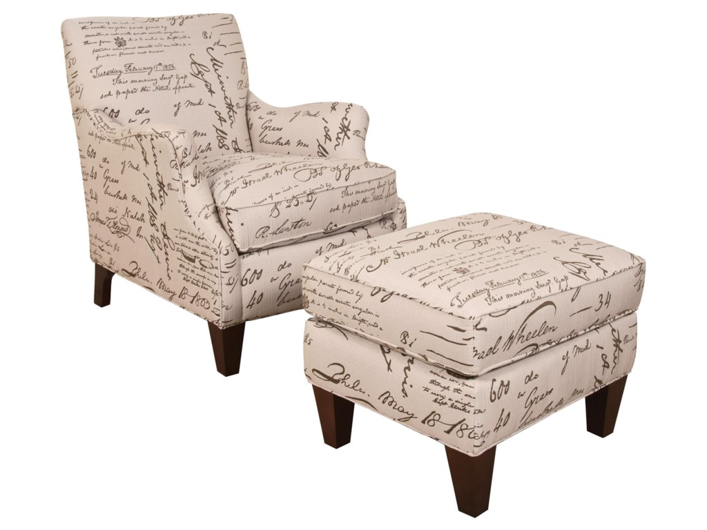 England GillianChair and Ottoman