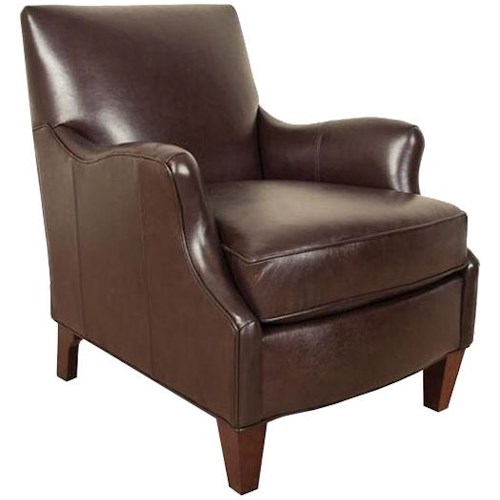 England Lyle Transitional Accent Chair with Defined Den Room Look
