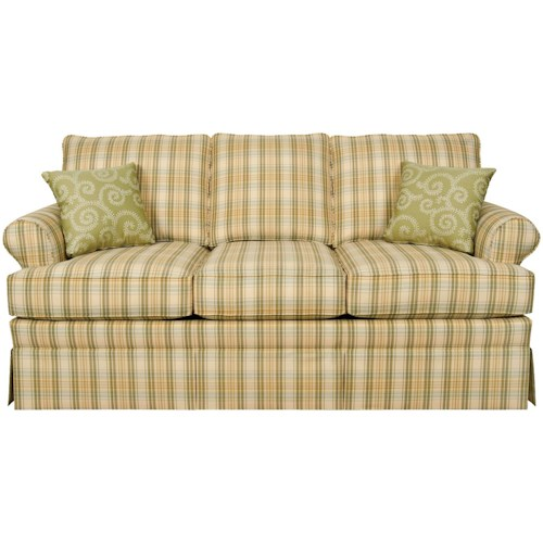England Grace  Stationary Sofa with Rolled Arms