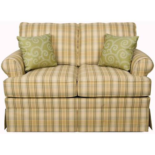 England Grace  Loveseat Glider with Skirted Base