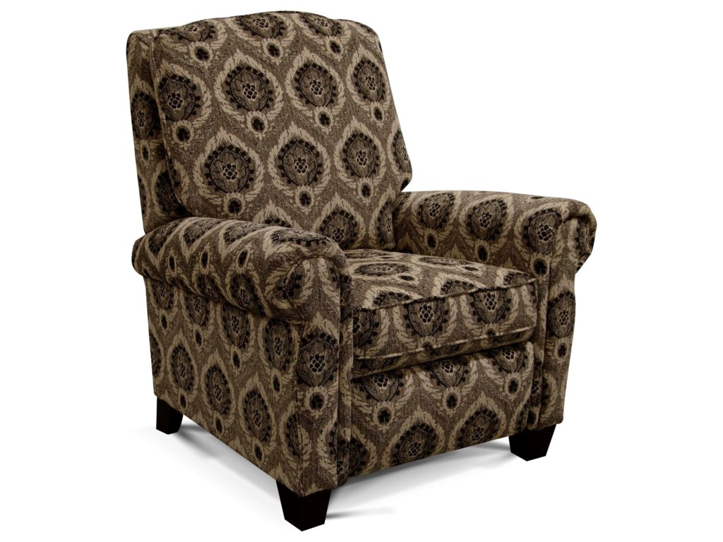 Green push back recliner by england