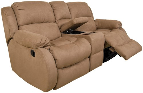 England Hali Casual Styled Double Reclining Console Loveseat with Power