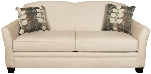 England Hilleary Sofa with Nailheads and Curved Seat Back