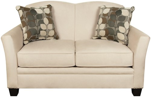 England Hilleary Loveseat with Nailheads and Curved Seat Back