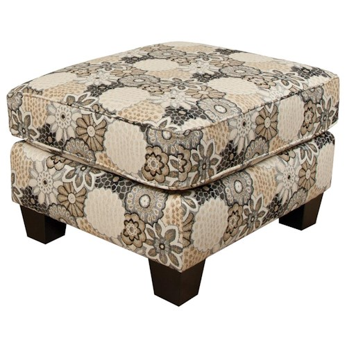 England Hilleary Simple Ottoman with Welt Cord Trim