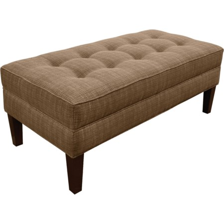 Living Room Ottoman with Matching Welt