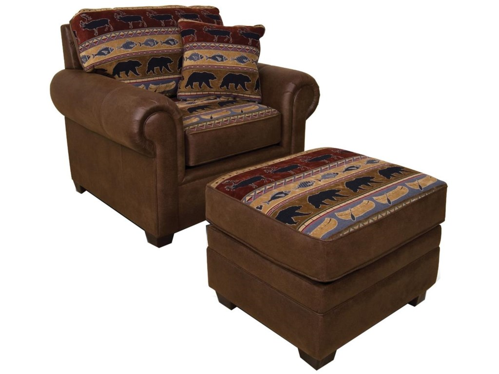 England JadenUpholstered Chair and Ottoman