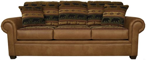 England Jaden Stationary Sofa with Large Rolled Arms