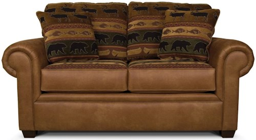England Jaden Loveseat with Wide Rolled Arms