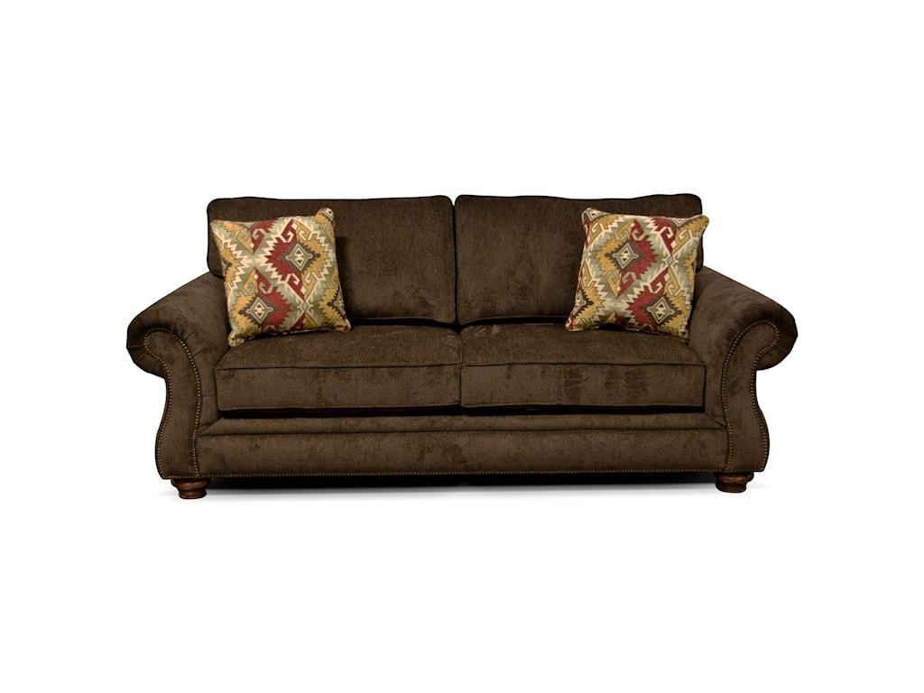 England JeremieTwo Cushion Sofa with Nailheads