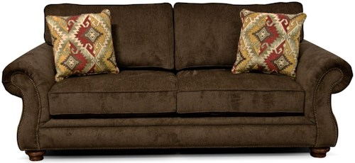 England Jeremie Two Cushion Sofa with Nailheads