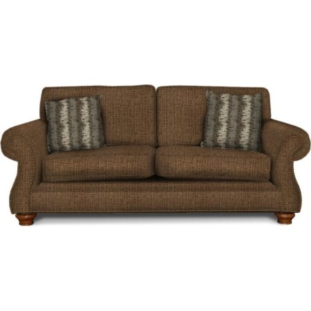 Two Cushion Sofa with Nailheads