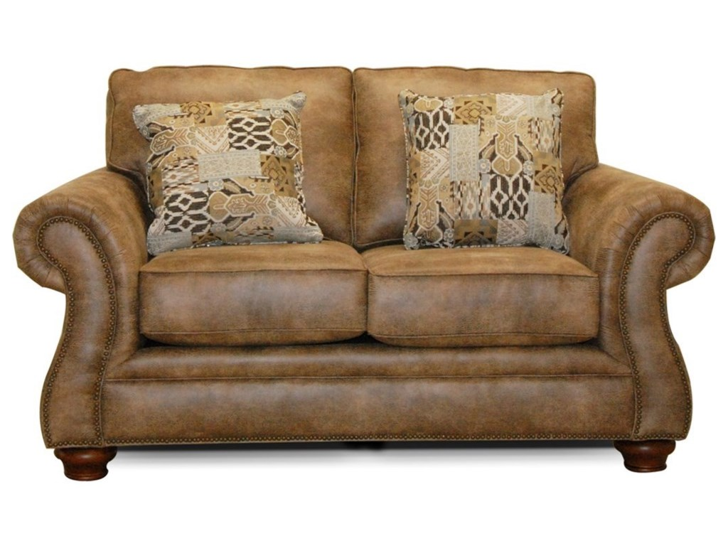 England JeremieTwo Cushion Loveseat with Nailheads