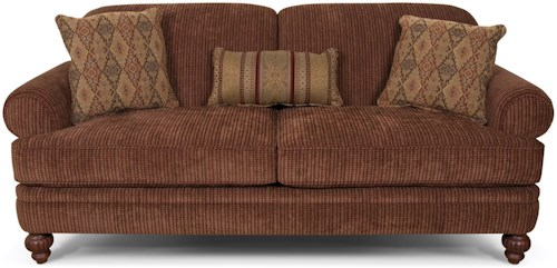 England Kathy Traditional Rolled Arm Stationary Sofa