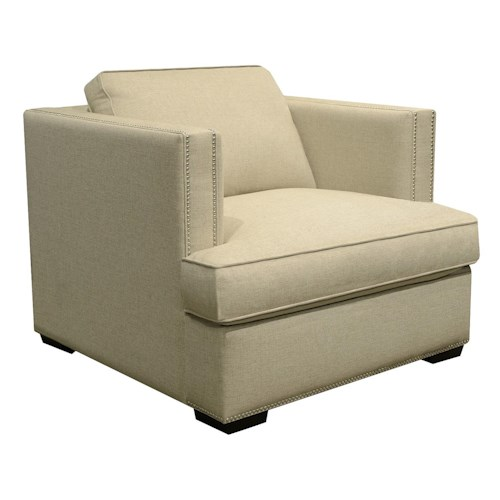 England Keck Transitional Chair with Nailhead Trim