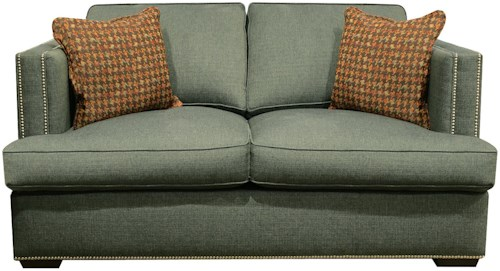 England Keck Transitional Loveseat with Nailhead Trim