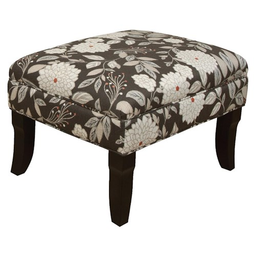 England Kinnett Ottoman with Formal Cottage Style