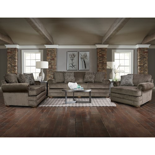 England Knox Stationary Living Room Group