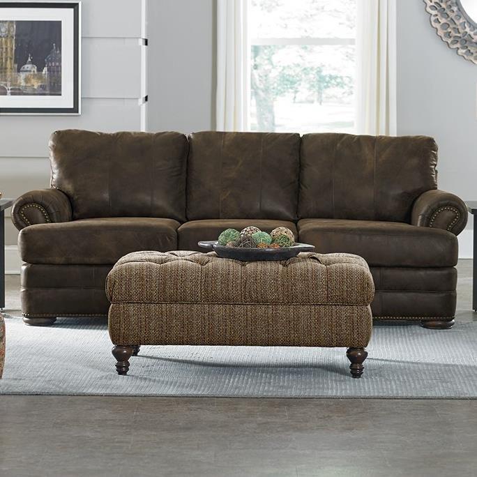 England KnoxAll Leather Sofa With Nailhead Trim ...