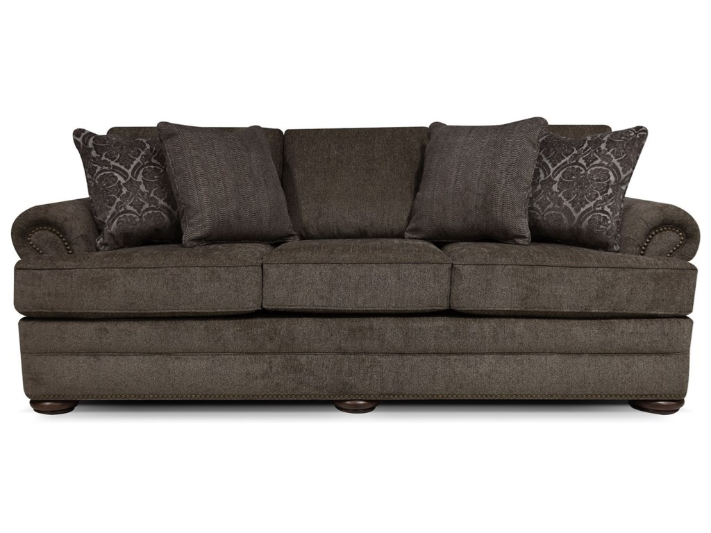 England Knox 6M05N Sofa with Nailhead Trim | Furniture and ...