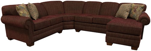 England Monroe Six Seat Sectional Sofa