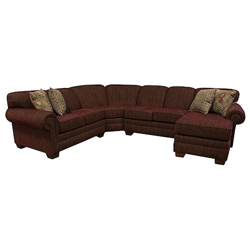 England Monroe Six Seat Sectional Sofa