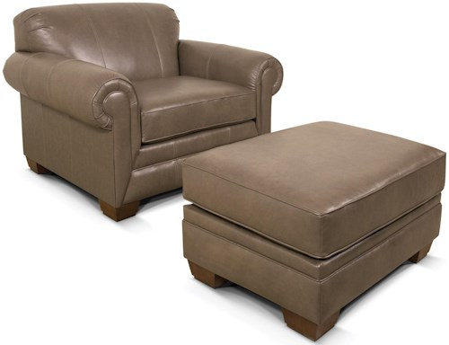 England Leah  Chair with Matching Ottoman