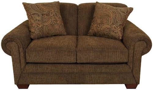 England Monroe Traditional Styled Loveseat with Classic Sophistication