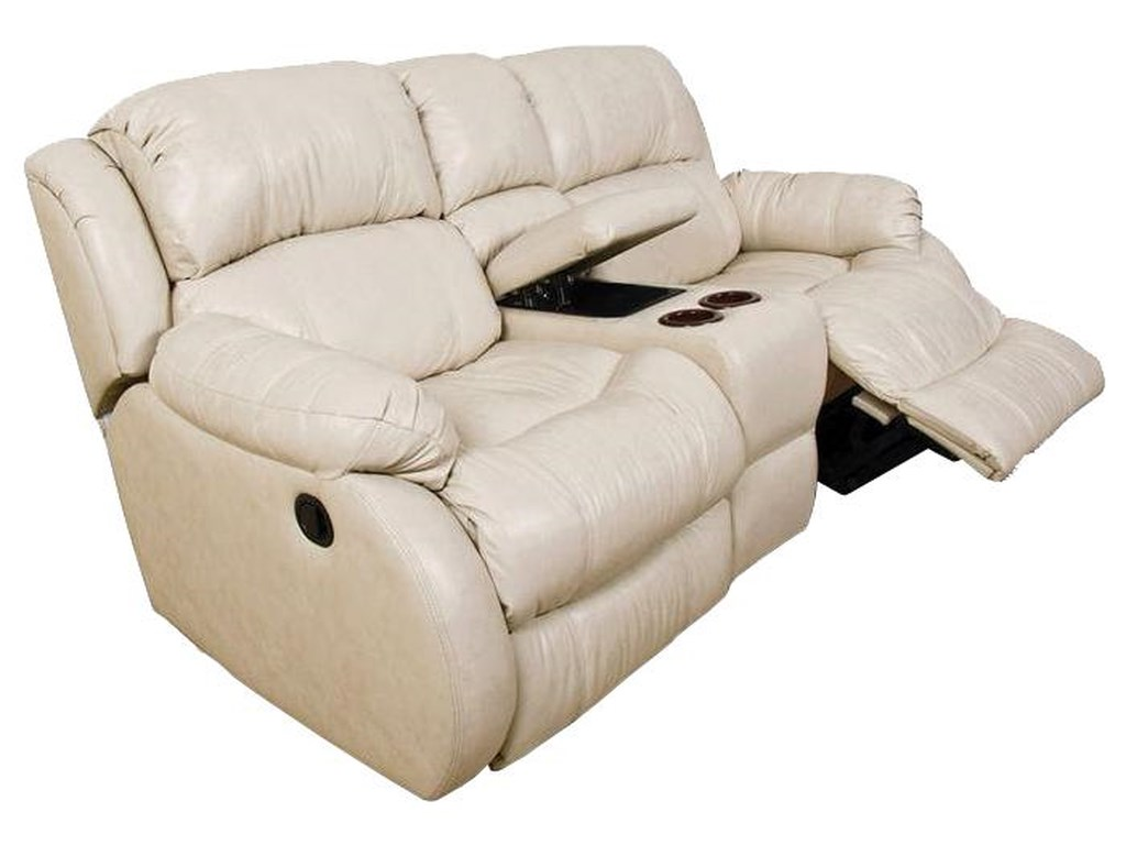 England LittonDouble Reclining Loveseat Console with Power