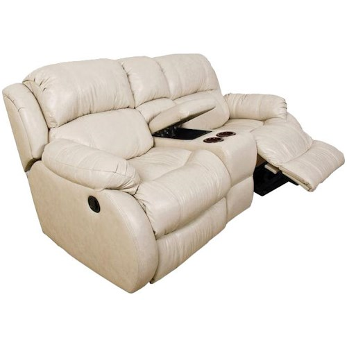 England Litton Double Reclining Loveseat Console with Power Operation