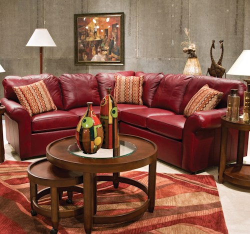 England Lochlan 2-Piece Leather Sectional